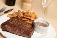 Frite 4 della bistecca Fotografia Stock