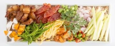 Frite o arroz com a pasta do camarão Imagem de Stock Royalty Free