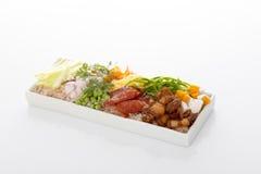 Frite o arroz com a pasta do camarão Imagens de Stock