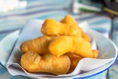Friterad degpinne, thai frukost Royaltyfri Foto