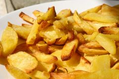 Frites de Pommes Imagens de Stock