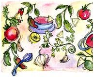 Frites et Salsa illustration de vecteur