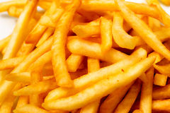Frites. Golden, crispy, appetizing potatoes - loved by children and adults stock photography