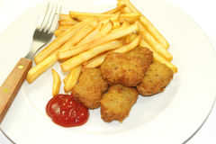 Frites and nuggets Stock Photo