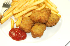 Frites and nuggets Royalty Free Stock Image