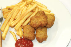 Frites and nuggets Stock Image