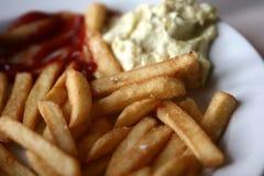 frites pommes 免版税图库摄影