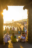 Fritid för afton för Kanyakumari indierfolk royaltyfri foto