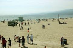 Fritid på stranden, Santa Monica Beach, Kalifornien, USA arkivbild