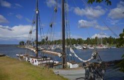 Fritidfartyghamn i Sjötorp, Sverige Royaltyfria Foton
