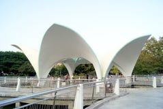 Fritidpaviljongen som är xinan parkerar i shenzhen Royaltyfria Foton