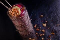 Fritids- coctail för alkoholiserad vinter royaltyfria foton
