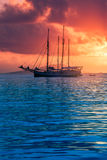 Fritids- yacht på Indiska oceanen Royaltyfri Bild