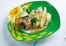 Frito de Pescado Imagem de Stock