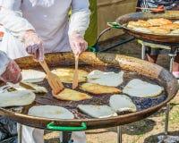 frito en aceite Foto de archivo libre de regalías