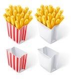 Frito salta adentro la bolsa de papel Foto de archivo libre de regalías