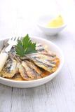 Fritos da anchova Imagem de Stock Royalty Free