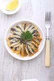 Fritos da anchova Fotos de Stock Royalty Free