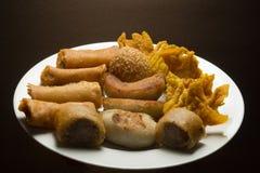 Fritos de Dim Sum Foto de Stock