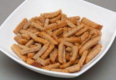 Fritos de pão. Fotografia de Stock