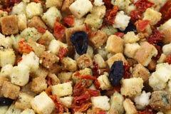Fritos de pão italianos frescos e crunchy coloridos foto de stock