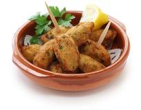 Fritos do bacalhau de sal, croquetes Foto de Stock