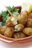 Fritos do bacalhau de sal, croquetes Imagens de Stock Royalty Free