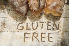 Fritt bröd för hemlagad gluten för folk med allergi Royaltyfri Fotografi