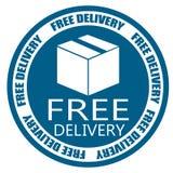 Fritt emblem för leveranssändningsblått Arkivbild
