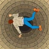 Fritt fallman stock illustrationer