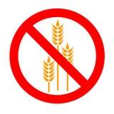 fritt glutensymbol Arkivfoto