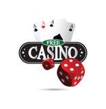 Fritt kasinodesignbegrepp Arkivbilder