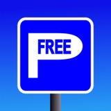 fritt parkeringstecken Fotografering för Bildbyråer