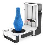 Fritt stående modernt abstrakt begrepp M för scanning för bildläsare för skrivbordshem 3D Royaltyfri Bild