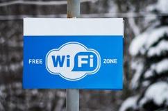 Fritt tecken för zon Wi-Fi och symbolWi-Fi område Royaltyfria Foton