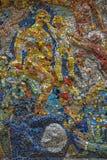 Fritt tillgängligt för undersökning av utläggningen av mosaiken ar Fotografering för Bildbyråer