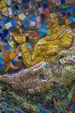 Fritt tillgängligt för undersökning av utläggningen av mosaiken ar Arkivfoton