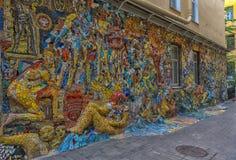 Fritt tillgängligt för undersökning av utläggningen av mosaiken ar Arkivfoto