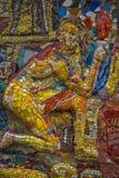 Fritt tillgängligt för undersökning av utläggningen av mosaiken ar Arkivbilder
