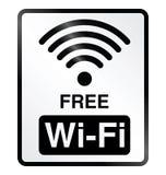 Fritt WiFi informationstecken Fotografering för Bildbyråer