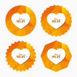 Fritt wifitecken för förälskelse Wifi symbol Royaltyfria Bilder