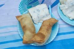 Fritta italiano di torta con il formaggio di gorgonzola Immagine Stock Libera da Diritti