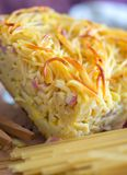 Frittata спагетти Стоковое Фото