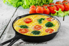Frittata with broccoli Royalty Free Stock Photography