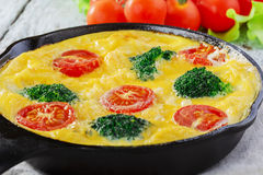 Frittata with broccoli Royalty Free Stock Photo
