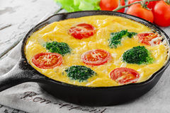 Frittata with broccoli Royalty Free Stock Images