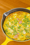 Frittata in a Cast Iron Frying Pan Royalty Free Stock Photography