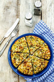 Frittata with chicken and potatoes Stock Photography