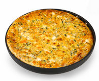Frittata with leek Royalty Free Stock Image