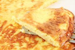 Frittata met ui, omelet Royalty-vrije Stock Afbeeldingen